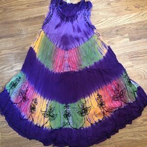 Purple TieDye Dress by India Boutique
